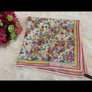 Authentic Louis Vuitton Floral Multicolor Scarf